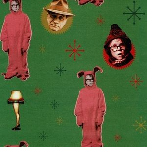 A Christmas Story Gift Wrap Paper 1 Roll NEW
